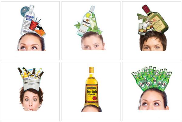 Diademas botellas