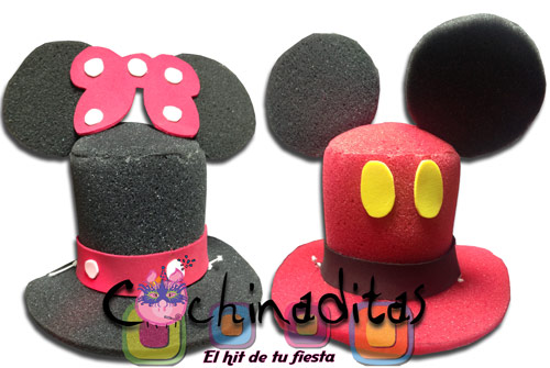 Mickey y Minnie Mouse Mini hule espuma