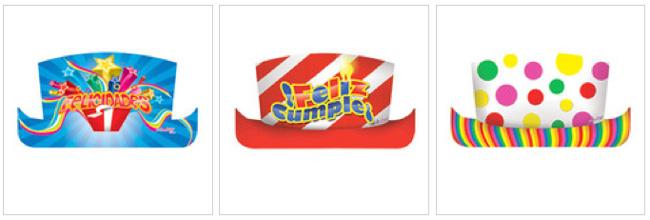 Sombreros de copa cumpleaños