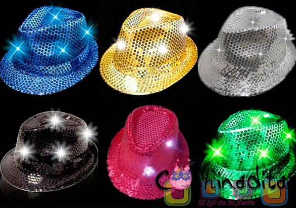 Sombrero lentejuela luminoso