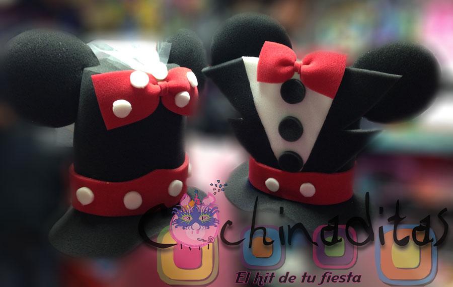 Pareja de novios Mickey y Minnie