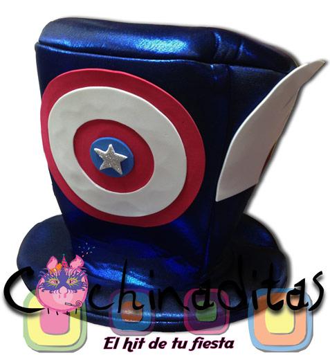 Sombrero tela Capitán América