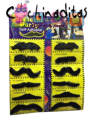 Set de bigotes adhesivos