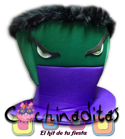 Sombrero tela Hulk