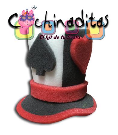 Sombrerito naipes hule espuma