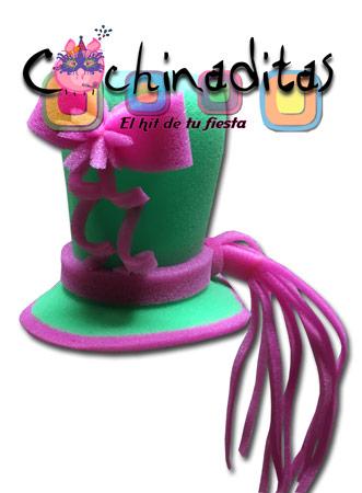 Sombrero con moñito hule espuma
