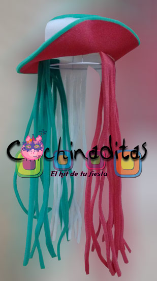 Sombrero de mujer tricolor hule espuma