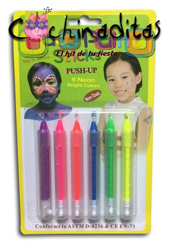 Crayones neón plástico