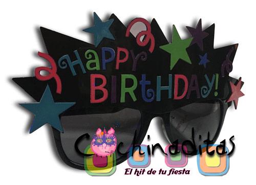 Lente negro Happy Birthday