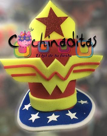 Sombrero hule espuma Mujer maravilla