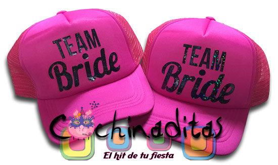 Gorra rosa Team Bride