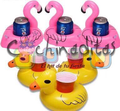 Porta bebidas inflables animales