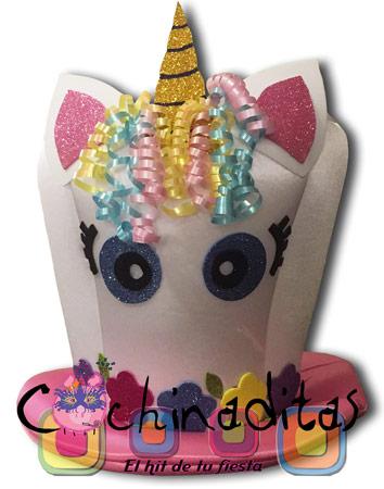 Sombrero Unicornio tela