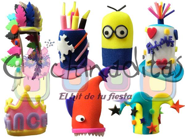 Sombreros Miniatura Hule espuma