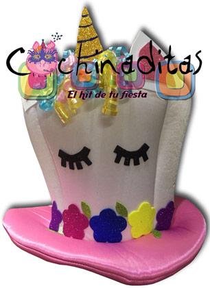 Sombrero Unicornio tela niño