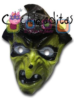 Máscara Bruja verde