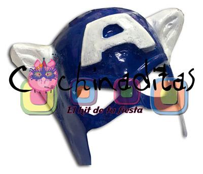 Máscara Capitán América PVC