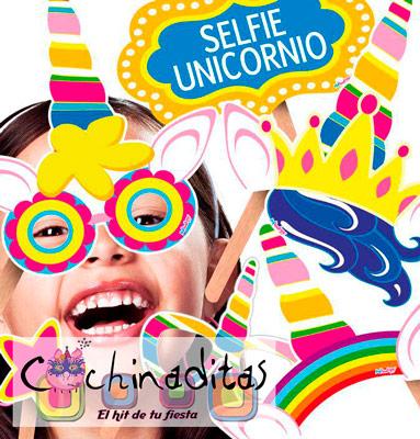 Accesorios fotos Selfie Unicornio