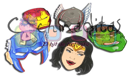 Máscaras súper héroes foami
