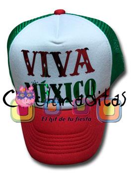 Gorra Viva México tricolor