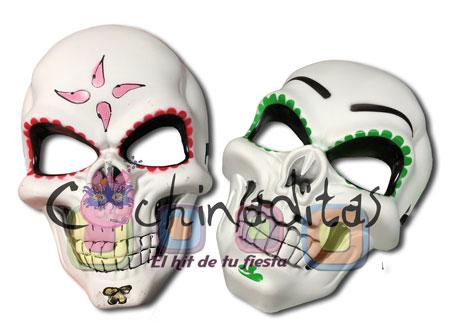 Máscara calavera colores