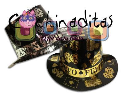 Sombrero copa Feliz Año Nuevo Casino