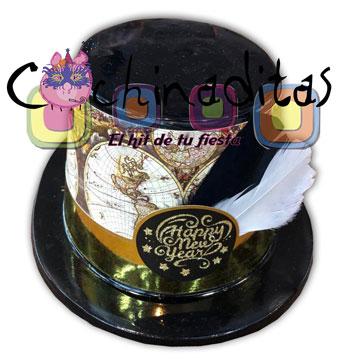 Sombrero copa Happy New Year pluma
