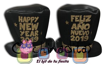 Sombrero tela Año Nuevo