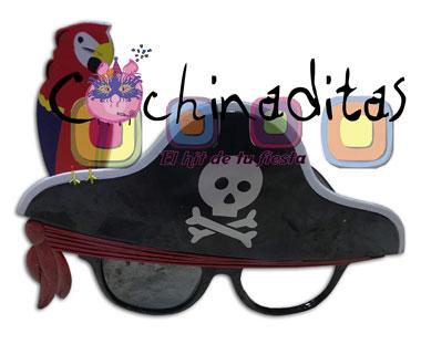 Lentes pirata con perico
