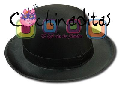 Sombrero bombin tela negro