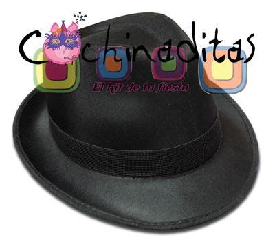 Sombrero pachuco tela negro