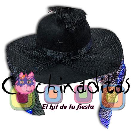 Sombrero catrina con velo