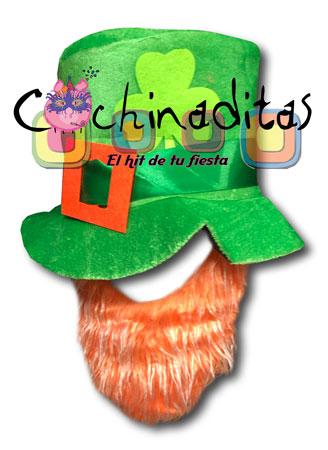 Sombrero St Patricio barba ch