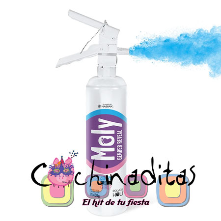 Extintor Moly Gender Reveal Azul