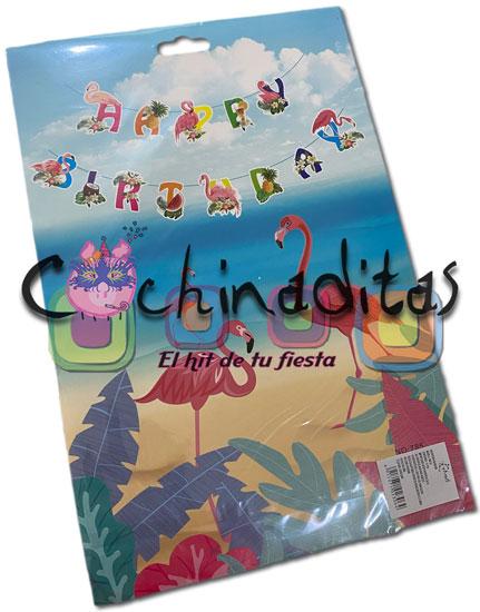 Guirnalda Cumpleaños Flamingos