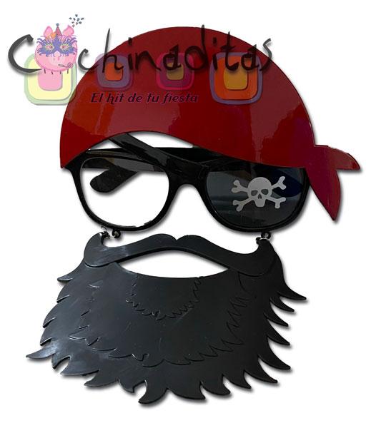 Lentes pirata con barba