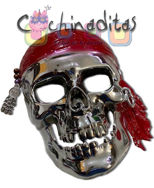 Máscara pirata metálica